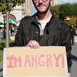 「私は怒っている」