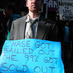 「チェイス(銀行)は(税金で)救われた、我々99%は捨てられた」
