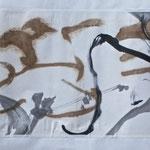Encre sur papier chinois 1,30 x 45cm