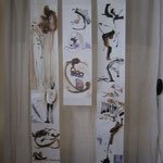Rouleau aquarelle et encre, ajout de photo    largeur 25cm