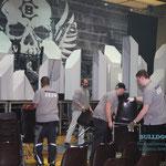 Aufbau für Bülent Ceylan, 16.11.2014, s.Oliver Arena