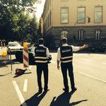Verkehrssicherung BR Radltour, 08.08.2014, Würzburg