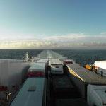 Sul traghetto da Larvick a Hirtshals(Danimarca)
