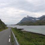La strada per le isole Lofoten