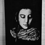 """"""" Frau mit Schal""""100 x 70 / Pastell /2014"""
