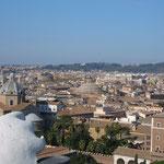 Вид на город Рим с обзорной площадки