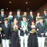 Der Thron 2010 mit König Achim Dieckmann und Königin Andrea Windau
