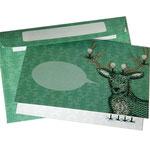 NEU: Grußkarte Hirsch mit Umschlag