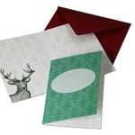 NEU: kleine Karte Weihnachten zum selbst Beschriften Format DIN A7 mit Umschlag