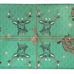 NEU: Geschenkpapier Weihnachten Hirsch Eichhörnchen