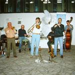 ....im Niedersachsen-Pavillon auf der Hannover Messe mit der hannoverschen Jazz-Legende Waldi Ziegler