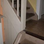 vor der Treppenrenovierung