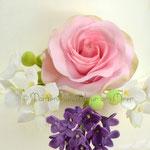 Rose, Flieder und Hortensien