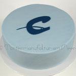 Torte mit Logo der Cäcilienschule