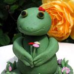 """Froschmädchen mit Blumen im """"Haar"""""""