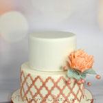 Torte in Kupfer-Tönen
