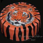 Tigertorte für den Tiger; Tigerkopf gemalt