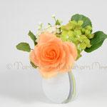 Gesteck mit Rose, Hydrangea und Fillers