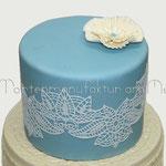 Stefanie: Cake Lace mit Plissée-Blume