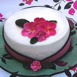 Torte mit Plumeria