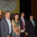 MIlan Horáček, Primator Petr Vokřál, Dr. Kateřina Tučková. Dr. Alexander Grubmayer, österr. Botschafter und Bernd Posselt