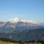 Le Mont Blanc depuis le somment du Semnoz
