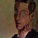 Retrato de su amigo Pablo Jiménez. Óleo sobre lienzo. 1965