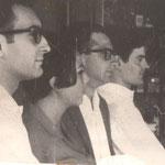 1966. J.A. Gustavo Abejón, María Teresa Navarro, Jorge Urrutia, José Antonio Cáceres (fondo). Fotografía facilitada por Jorge Urrutia