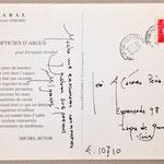 Tarjeta de Fernando Arrabal