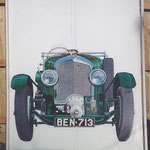 supercharged Bentley hand painted on wardrobe doors
