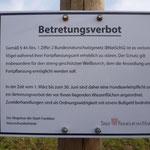 28.2.2013  die Verfügung der Unteren Naturschutzbehörde.--  Foto: Ingolf Grabow