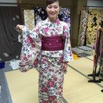 源氏物語ゆかた 大学生 マイサイズにお誂え仕立て 着付け教室にて ご自分でお着付けできるようになりました!