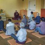 Meditation in den Räumlichkeiten des Buddhistischen Vereins
