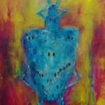 Königkäfig 50 cm x 60 cm | Acryl auf Leinwand | © Andrea Back
