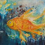 Fisch 80 cm x 60 cm | Acryl auf Leinwand | © Andrea Back