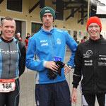 Die drei schnellsten Allgäuer: v.l.: Axel, Darren, Martin