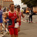 Pierre beim ersten Lauf