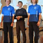 TV Memmingen (v.li.: Martin, Edi, Felix) belegen Platz 3 als Herren-Team
