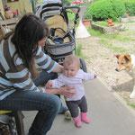 Mal schauen ob ich zu Papi und Roxy laufen kann.