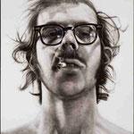 Autoportrait blanc sur noir (Big-Self Portrait)