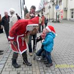 Weihnachtsmann 2014 Poststraße Wünschendorf Elster Heimat- und Verschönerungsverein