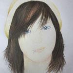 Portraitzeichnung mit Künstlerfarbstiften auf DIN A4 - Dieses Bild hat bereits ein neues Zuhause gefunden