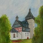 """""""Obertorturm Bad Camberg"""" Zeichnung mit Künstlerfarbstiften (DIN A4) - Dieses Bild hat bereits ein neues Zuhause gefunden"""
