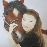 Portraitzeichnung mit Künstlerfarbstiften (DIN A4) - Dieses Bild hat bereits ein neues Zuhause gefunden