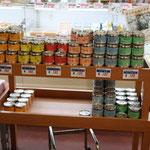地元の水産高校で作られている缶詰。もちろん「まち道楽」で販売しています!