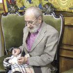 2007.  Ángel González el 3 de diciembre de 2007 (un mes antes de su fallecimiento)