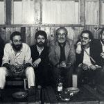 1984. Noelí Puente, Miguel Munárriz, Helios Pandiella, Ángel González, Alberto Vega y Ricardo Labra