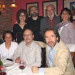 2005. Con Ángel González el 30 de mayo de 2005. Cena en Casa Adela, Lada (Langreo, Asturias)