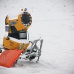 Schneekanonen schaffen sichere Bedingungen