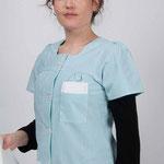 détails blouse Marina - manches et encolure carrée